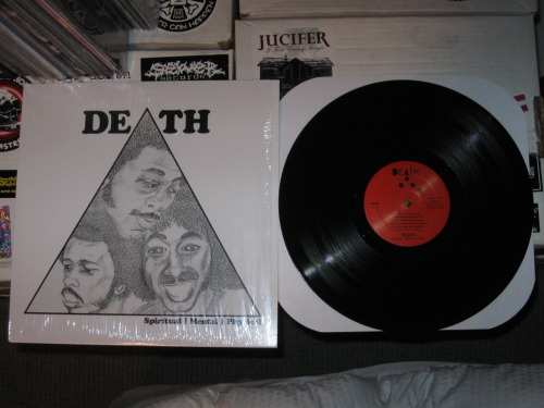 "Death - ""Spiritual Mental Physical"" (Drag City 2011) More late night LP spinning last night.  Commence short reviews blast! These guys rock.  Like punks before punks.  Demos and shit.  Motherfucks. -Log."
