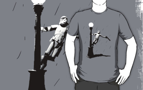 Stormtroopin' in the rain. (T-shirt)