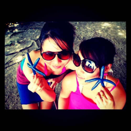 STARFISH! with my fab girl Lou in one of the islands we visited in Bohol, Philippines (Taken with instagram)