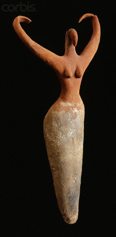 msbehavoyeur:  Egyptian Predynastic Female Figurine  via Figurine dating to circa 3650-3300 B.C. Terracotta, 11 1/2 in. (29.3 cm) high. Located in the Brooklyn Museum, Brooklyn, New York, New York, USA.