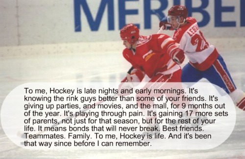 To me Hockey means… by:danglesnipecelly