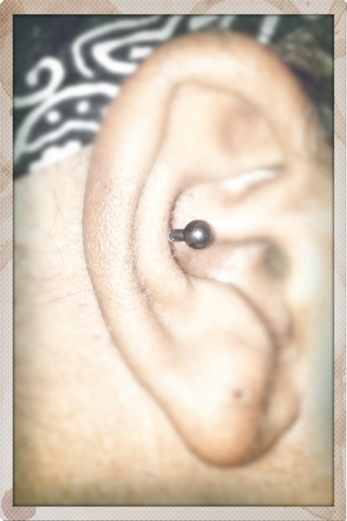 My new Conch piercing done a few hours ago.