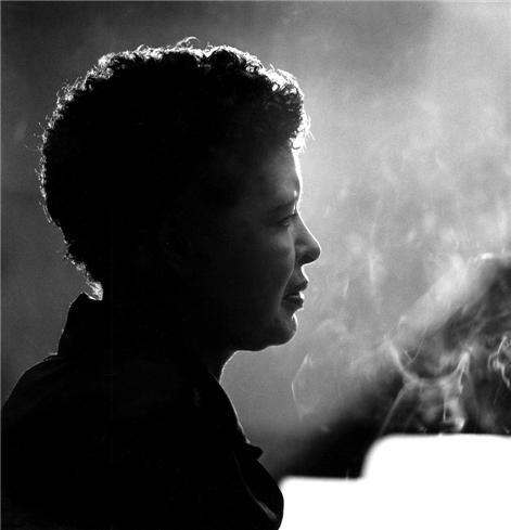 Billie Holiday in New York, 1955. She died 52 years ago today. Photo by Herman Leonard.