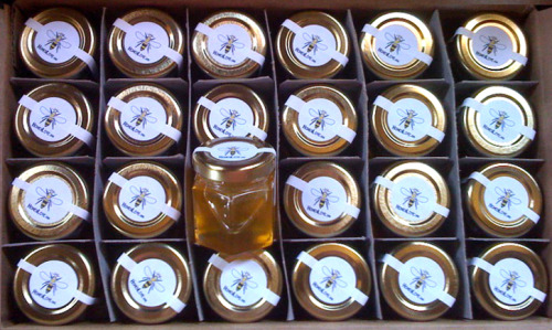 Just made up a new case of RAW ORGANIC LOCAL HONEY from our honeybee rescues to give to our HoneyLove sponsors!