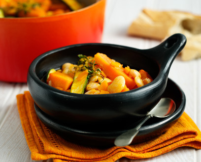 Pumpkin & Butter Bean Broth Serves 20 Prep Time: 20 mins Cooking Time: 50 mins Ingredients: 2 Knorr Vegetable Stock Pot 2tbsps olive oil 2 small onions, peeled and finely chopped 3 garlic cloves, peeled and finely chopped 6 small carrots, peeled and finely chopped 3 celery stalks, finely chopped 2tbsps tomato puree (optional) 2 x 420g tins of butterbeans in water, drained 500g pumpkin, peeled and chopped into chunks 2 courgettes or 6?8 baby courgettes, cut into chunks 1tsp chopped fresh thyme Crusty bread, to serve Preparation 1. First, make the stock. Dissolve the Knorr Vegetable Stock Pots in 1.2 ltr of boiling water, stirring until thoroughly dissolved. Place the Knorr Vegetable Stock in a large saucepan and bring to a gentle simmer. 2. In a separate large heavy-based saucepan, heat the olive oil. Add in the onion and garlic and fry for 1–2 minutes over a high heat, stirring constantly so that they soften but don't brown at all. 3. Add in the carrot and celery and cook for 2–3 minutes, stirring constantly. Add in the tomato puree – this will give the soup a great colour – and cook over a medium heat, stirring constantly to mix in well. 4. Bring the simmering Knorr Vegetable Stock to the boil and add to the onion mixture. Bring to the boil, then reduce the heat and simmer for 20 minutes. 5. Add in the drained butterbeans and simmer for 10 minutes, then add in the pumpkin or butternut squash, bring to the boil and simmer for 10 minutes. 6. Add in courgettes and thyme, bring to the boil, reduce the heat and simmer for 5 more minutes. Adding fresh thyme gives a lovely flavour to the broth. 7. Check that the vegetables are cooked through; you want them tender, but retaining texture. 8. I'm a great fan of olive oil and I like to drizzle my soup with a little extra olive oil just before serving, but it's your choice. 9. Take the soup to the table to serve. Some slices of crusty bread would go well with it.