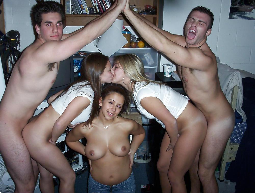 Hot amateur blonde college party