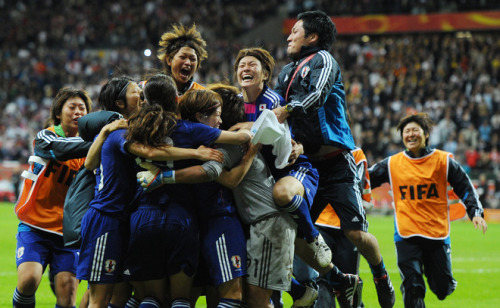 Your 2011 Women's World Cup Champions! Great job, Japan. We at FYWF salute you!