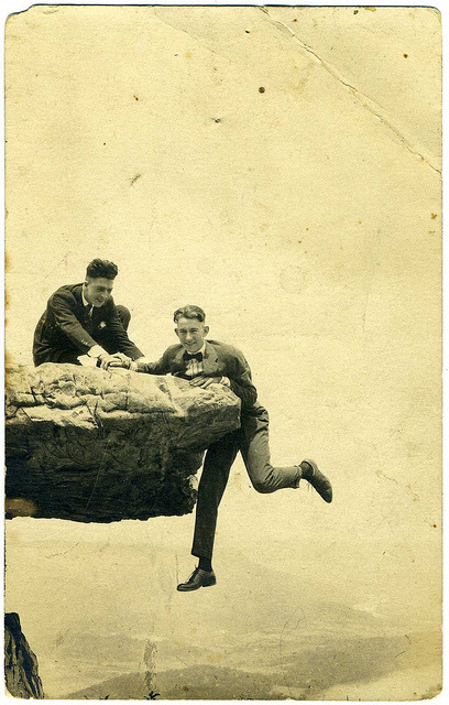 Real Photo Postcard: 1917 Bill & Wisdow [?] O'Neal by mrwaterslide on Flickr.