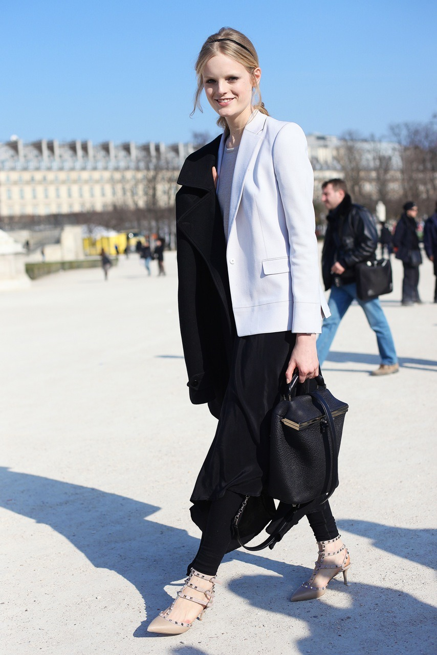 hanne gaby odiele, model, after Valentino, Paris fashion week.  I still love those Valentino shoes…