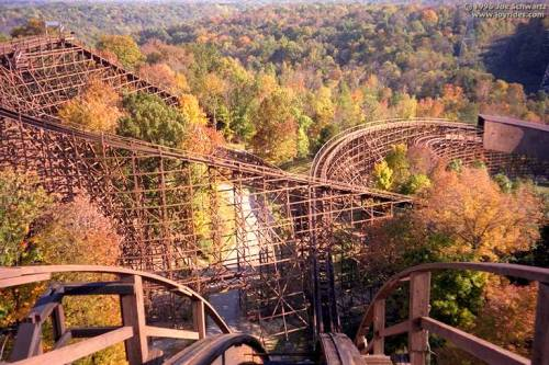 The Beast, a roller coaster at Cincinnati's King's Island amusement park is the longest wooden roller coaster in the world.  It is credited as the first modern-day wooden coaster to generate a marketing campaign. R.L. Stine, author of the popular Goosebumps novels, wrote a book named after and featuring the ride. R.L. Stine was born in Columbus, OH and studied English at Ohio State University.