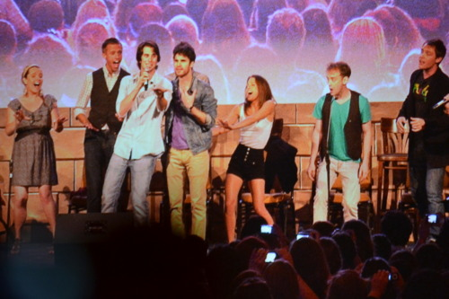 "golden-perception:  Joey Rickter, Lauren Lopez, Darren Criss, and Team Starkid at A Very Starkid Event, Leaky Con, 7/17/11 Please don't use without credit. This is during Harry Freaking Potter. They started by Darren saying he felt sort of famous, and Joey said, ""But Darren… you are!"""