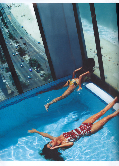 Bathing beauties by David Bellemere, 2004. And, yes, only in Rio.