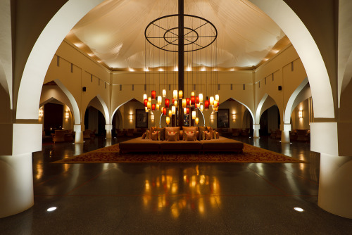 Lobby of The Chedi hotel. Muscat, Oman.