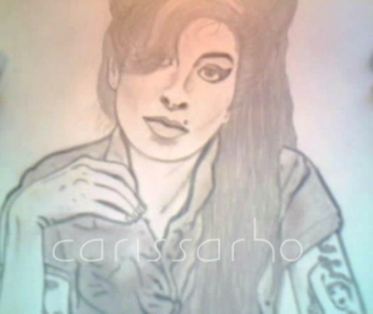 mzcigz:  An old drawing I did of Amy Winehouse. About 2 1/2 years ago. Before I started teaching myself how to shade really.  Oh, princess. RIP.