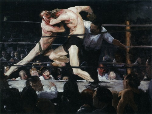 cavetocanvas:  Stag at Sharkey's - George Bellows, 1909