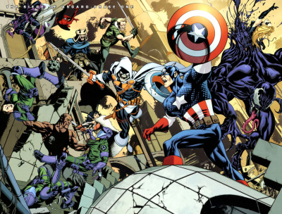 twopagespread:  Artist: Stuart Immonen • Issue: New Avengers #63 • Year: 2010