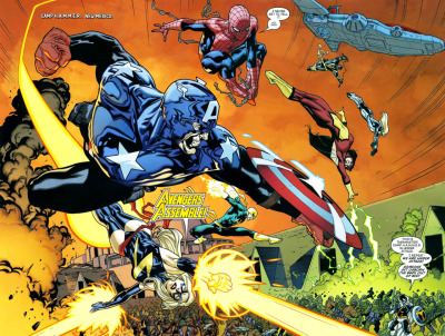 twopagespread:  Artist: Stuart Immonen • Issue: New Avengers #59 • Year: 2010