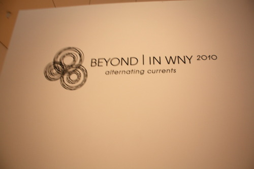 Beyond in WNY 2010 (Burchfield)  With a bit of googling I found some information for you guys and girls.  A curatorial collaboration of twelve regional museums and galleries, Beyond/In Western New York 2010: Alternating Currents is a contemporary, multi-venue arts exhibition. It presents the work of outstanding artists from Western New York and Southern Ontario, Northeastern Ohio and Northwestern Pennsylvania and for the first time, features the work of artists from outside the region, blurring the local with the global and challenging the assumptions of what these distinctions mean today, when all artists are both. Artists were invited to respond to the regionally relevant theme Alternating Currents and its undercurrent of utopian power, both literal and metaphorical; reclamation or use of natural assets; visions of the future and the past; technological progress or intrusion; and the diverse demographic and social constructs of this region. Alternating Currents History The 2010 event may be over but there is still some awesome stuff to peruse at your leisure. Website here Thanks to wewokeatdawn for submitting!