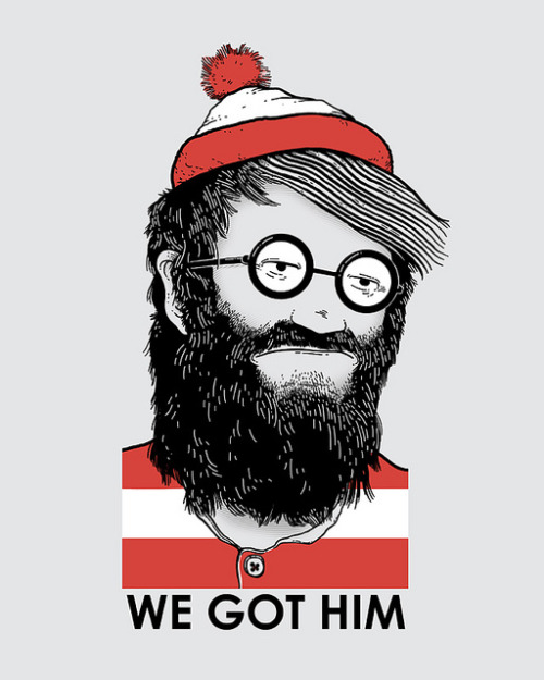 "We Got Him New illustration/shirt design by Nikoby on Threadless.    ""He's had some run-ins with the law over the years""  www.nikoby.com"
