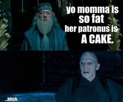 Fat Momma jokes in the world of Harry Potter.