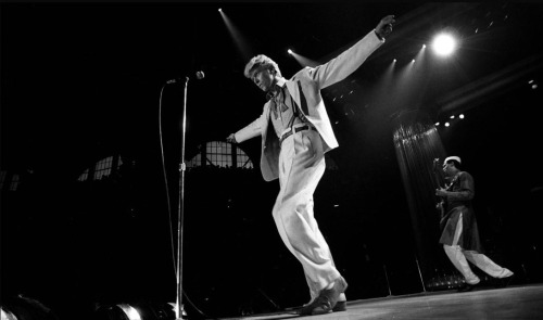 David Bowie on stage 1983 - by Denis O'Regan.