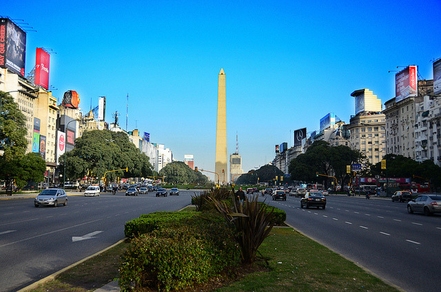 Obelisco de Buenos Aires by Hermano. on Flickr.Via Flickr: Avenida 9 de Julio. Buenos Aires. Argentina. 2011