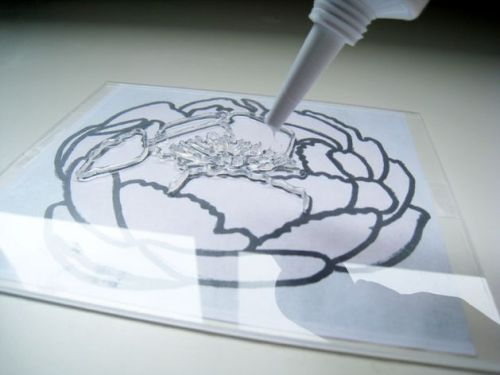 Make your own STAMPS with plexiglass & clear rubber caulking. (via)