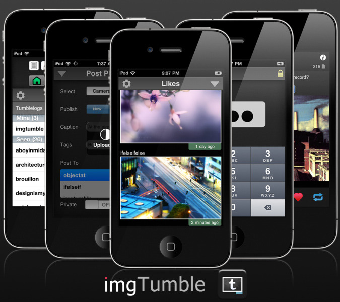 imgTumble for iPhone and iPod Touch.