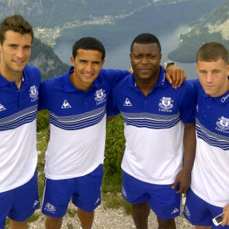 Tolis Vellios, Tim Cahill, Yakubu Aiyegbeni and Ross Barkley. (via @Tim_Cahill)