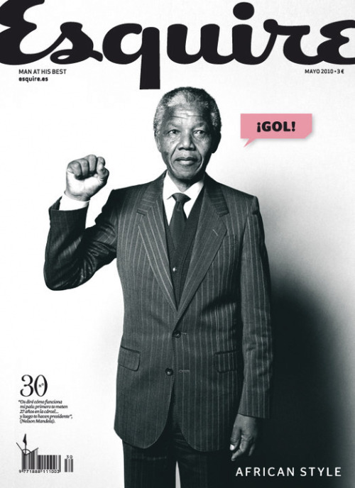 fyeahafrica:  Nelson Mandela on the cover of Esquire (Spain) for their May 2010 issue