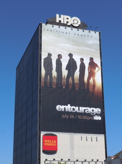 jasoninhollywood:  Giant Entourage billboard for the final season
