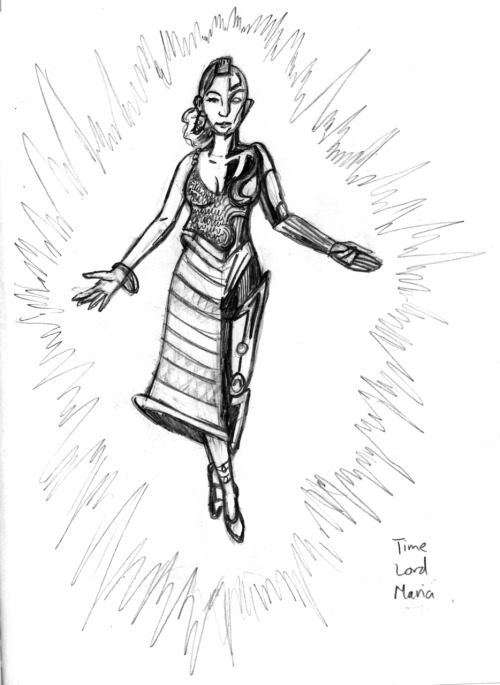 Sketch of Maria from my in-progress book for the Sketchbook Project 2012, Time Lords of the Chronometer.