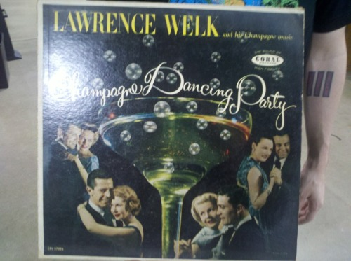 Champagne Dancing Party by Lawrence Welk record found at value village
