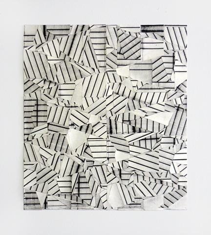 "Devin Powers - Puzzle. Oil on cut paper with artist tape & linen tape, 16"" x 14"" (2011) [Tumblr Monday with 1991]"
