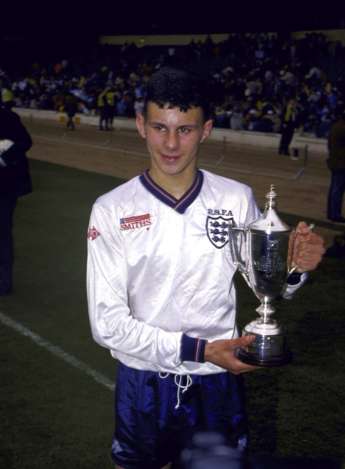 interleaning:  Ryan Giggs at 15, playing for the England Schoolboys.