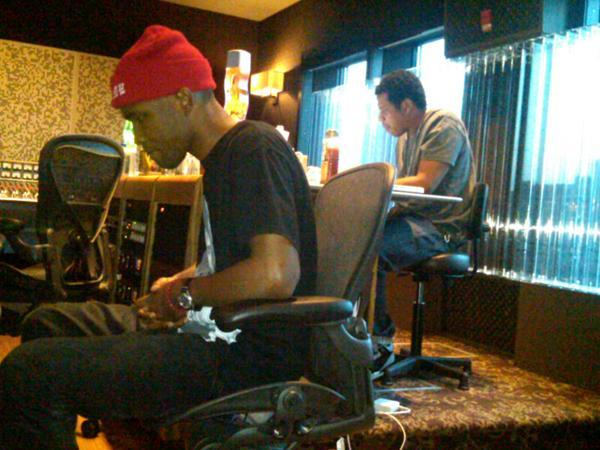 Frank Ocean & Jay-Z in the studio working on Jay's upcoming solo album! :)
