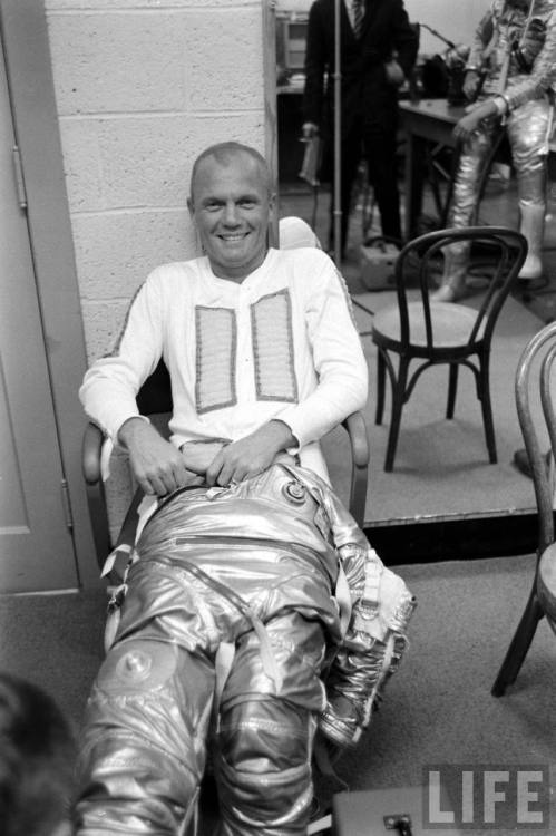lightthiscandle:  John Glenn suits up, 1961.