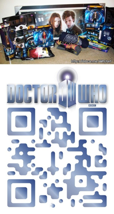 Play Doctor Who's Clues QR Scavenger Hunt, Prizes Ensue  Going to Comic-Con? Be sure to play BBC America's Doctor Who's Clues QR Scavenger Hunt – and win a 'Who'-mazing ultimate DW collection prize pack! http://bbca.me/QRstart How do you play? Keep your eyes peeled for codes as soon as you step out of your TARDIS in San Diego. Find the QR codes, scattered across key DW locations on the Exhibition Floor. Need a helping hand? Check-out the map here: http://bbca.me/DWQRmap Scan the code with your QR barcode reader on your smartphone, and voila, you're on your way. And the more codes you find, the more you're entered to win! Can't wait? Scan your first code now!Prizing provided by AbbyShot Clothiers, Advanced Graphics, Bif Bang Pow, Diamond Comics, GB Eye, IDW, Quantum Mechanix, Ripple Junction, Titan, Underground Toys, The Unemployed Philosophers Guild *All prizing is subject to change. Looking for a QR barcode reader app? Try these.iPhone & iPad: i-nigma and RedLaserAndroid: i-nigma and BarCode Scanner (by ZXing Team) and QR Droid PrivateBlackberry: i-nigma and ScanLife What are the prizes, you ask?