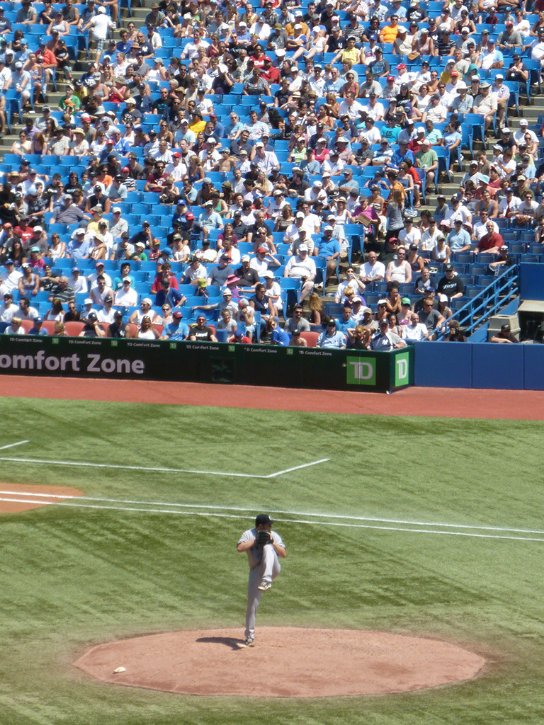 Phil Hughes at Skydome.