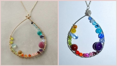 "truebluemeandyou: Anthro Inner Circle Necklace. Reblogging because this uses the same technique of wrapping beads as the DIY Anthro Inspired ""Perched Harmonies"" NecklaceI just posted here.  ""Inspired by"" Anthropologie Inner Circle Necklace (Original on left for $118). Original Anthropologie necklace here. Tutorial from One Artsy Mama here. This is one of the those big bang for your bucks (and time) tutorial I keep talking about! And this one is so easy…"