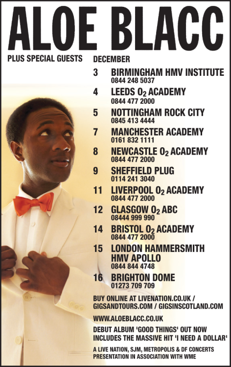 December 2011 UK Tour | On Sale Now