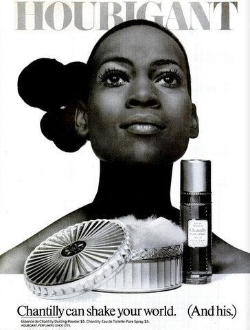 Naomi Sims in her classic 1970 Houbigant advertisement.