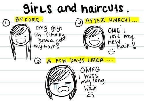 beejus:  girls and haircuts  This is #so meeeee !