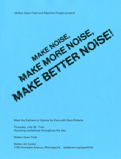 Poster: Make Better Noise! Michael Aberman. 2011