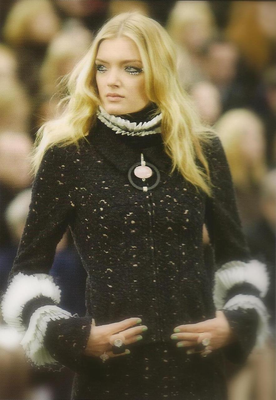 Lily Donaldson wearing Chanel Fall 2009 taken from The Worlds Most Influential Fashion Designers