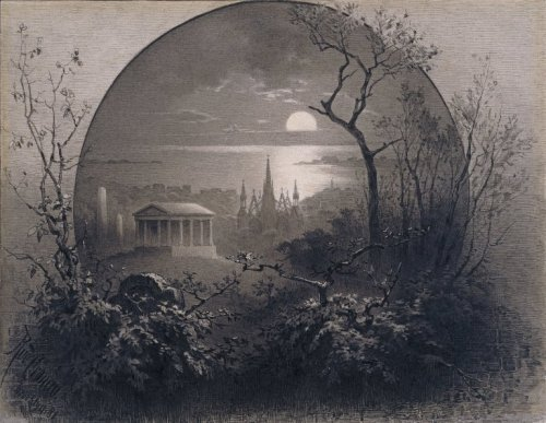 dansemacabre-:  Rudolph Cronau, View of Greenwood Cemetery in Brooklyn, 1881 (via Brooklyn Museum)