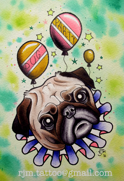 Puggleh-Wuggleh! Prints £10+postage email me if you want one!