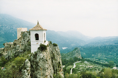 | ♕ |  Guadalest, Spain  | by xTorfinnx | via 14-01 | watercolorblue