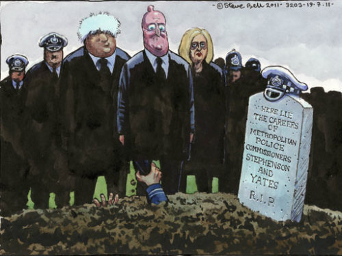 Steve Bell: The death of Met officers' careers (via Guardian.co.uk)