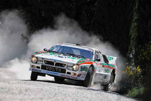"Group B rally cars, simply amazing. Miki Biason driving the Lancia 037 ""Totip"""
